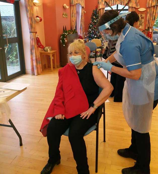 1st vaccine administered at Nazareth House Care Village Belfast